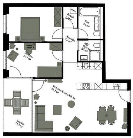 Home Staging Logo für den 2D Raumplaner mit einem Grundriss