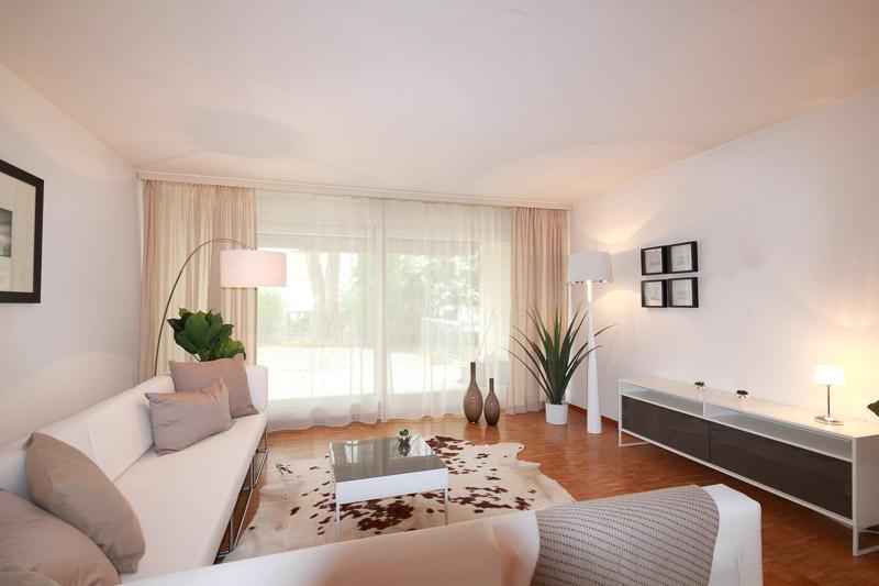 Projekte Wohnzimmer Mietwohnung nacher Aargau - Projekt der SWISS HOME STAGING