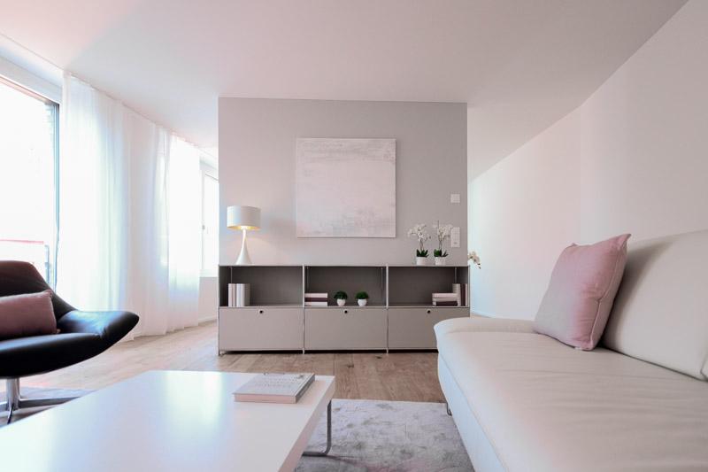 Projekte Wohnzimmer nachher Zürich - Projekt der SWISS HOME STAGING